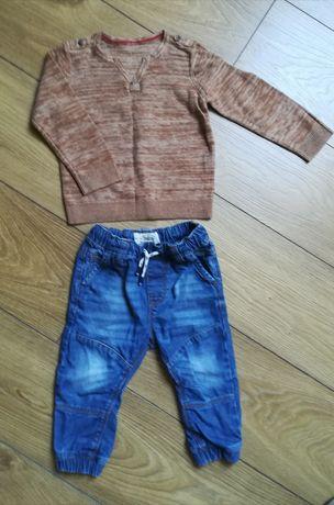 Spodnie dżinsowe i sweterek 86