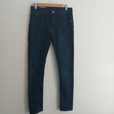 Reserved jeansy 31 granatowe rurki męskie M