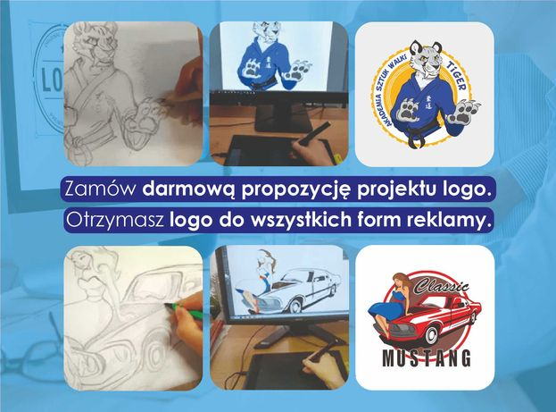 PROJEKT LOGO projektowanie loga logotyp projekty graficzne grafik fb