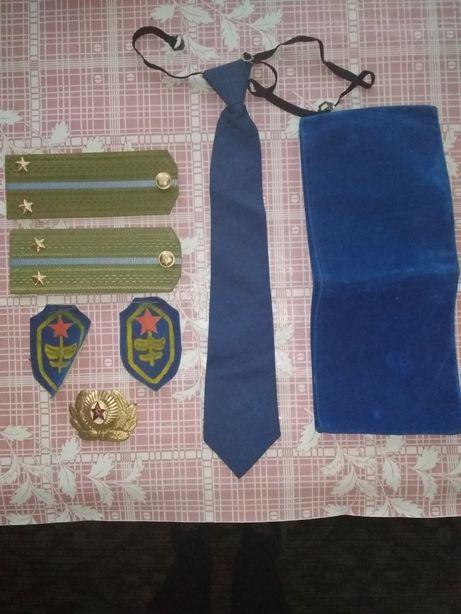 набор для театра, игр военных (погоны, пилотка, галстук, шевроны)