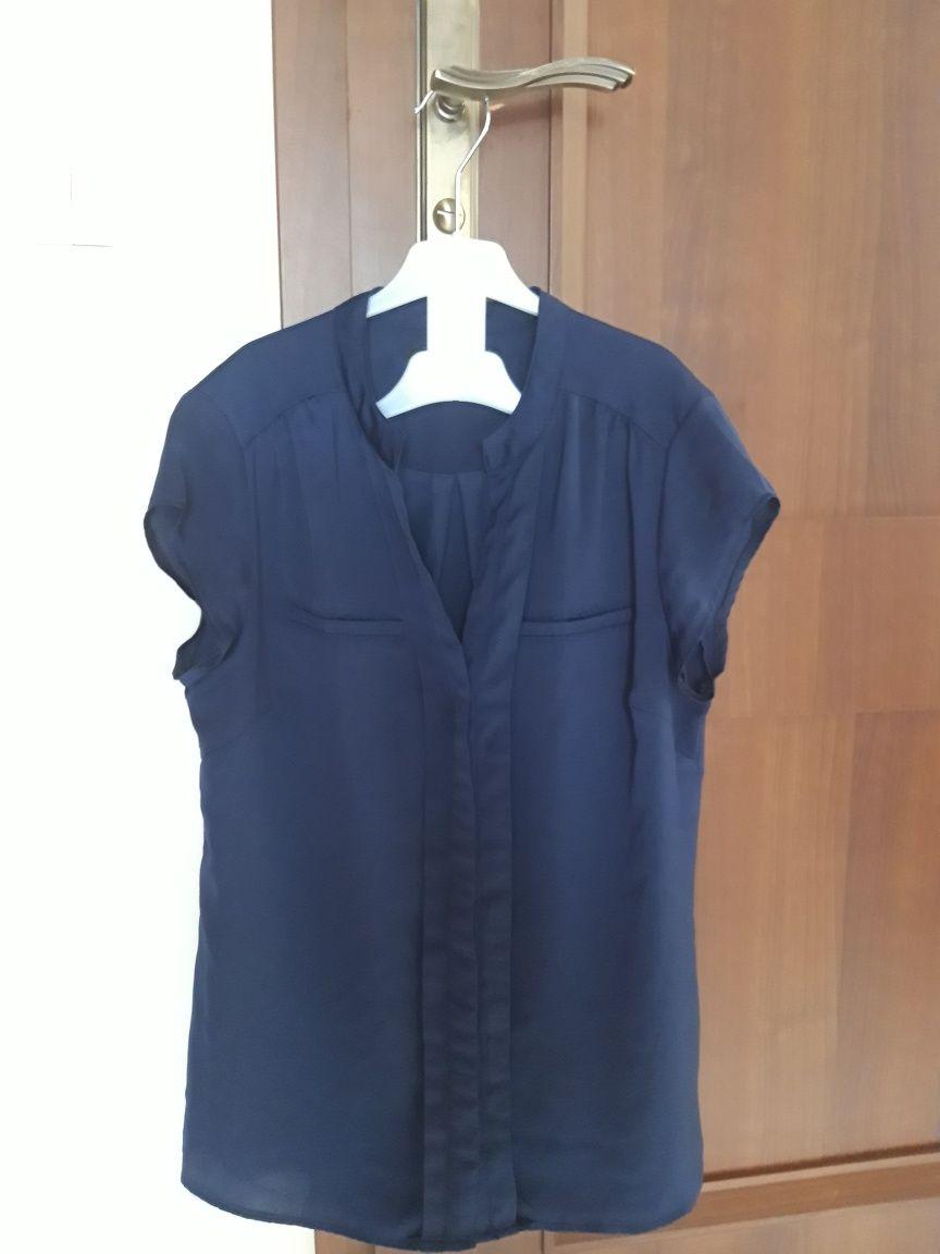 RESERVED granatowa bluzka koszula do pracy szkoły 38 M