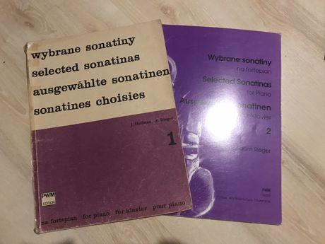 """Zestaw 2 zeszytów nut """"Wybrane sonatiny"""" pod red. J. Hoffman i A. Rieg"""