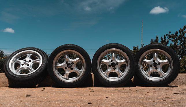 """Jantes 15"""" com pneus novos e semi novos"""