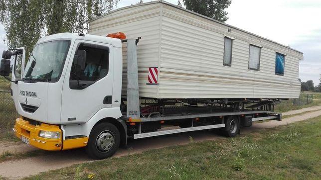 Przewoz transport przyczepa domek holender camper bus koparka widlak