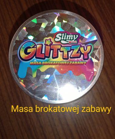 Slimy Glittzy złoty brokat z gwiazdkami