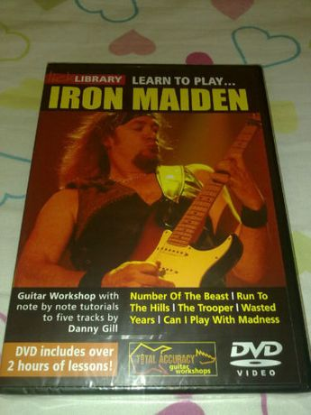 Iron Maiden - dvds a ensinar a tocar guitarra