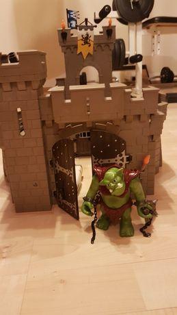 Playmobile zamek, maszyny oblężnicze, troll