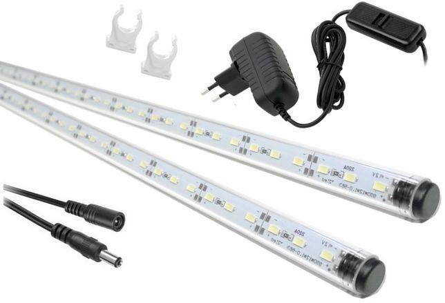 Świetlówki lampy LED oświetlenie akwarium 5630 2x50cm I+I