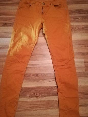 Spodnie jeans musztardowe Denim Co. r. 38