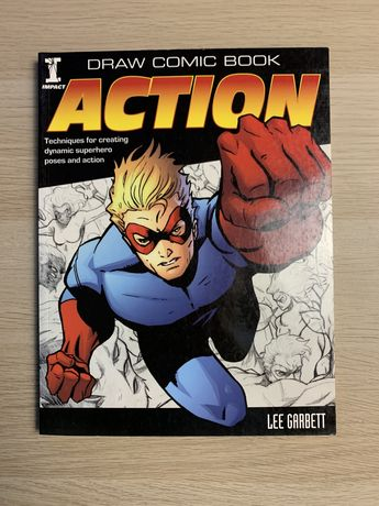 Draw Comic Book Action Lee Garbet Ksiażka Marvel DC Komiks