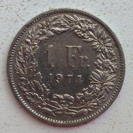 1FR.HELVETIA 1франк Швейцария 1974г
