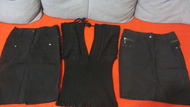 Юбки и жилетка для школы р.42(за всё)