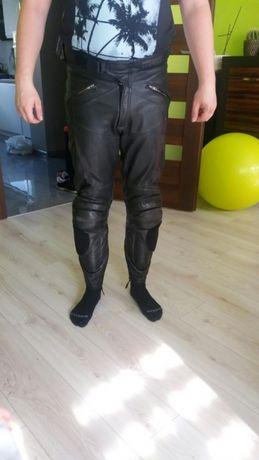 Spodnie skorzane motocyklowe