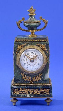 Zegar miniatura, marmur, XIX w.