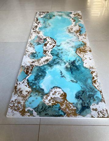 Картина море. Картина эпоксидной смолой. Море эпоксидной сиолой.