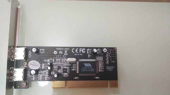Контроллер PCI-USB на 2USB  Модель: Rosewill Pi26212-6x2c