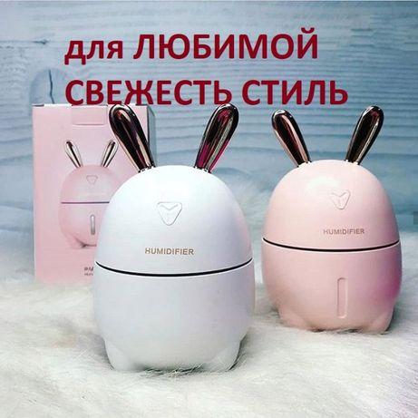 Зайка увлажнитель воздуха и ночник 2в1 Humidifier Rabbit детский мален