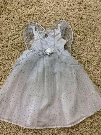 Платье ангел звездочка снежинка  на 3-4 года, на 2-3 года