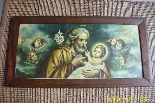 """Serigrafia """"São José e o Menino Jesus"""""""