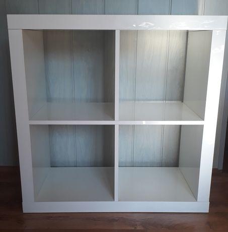 Półka Kallax Ikea, połysk biały