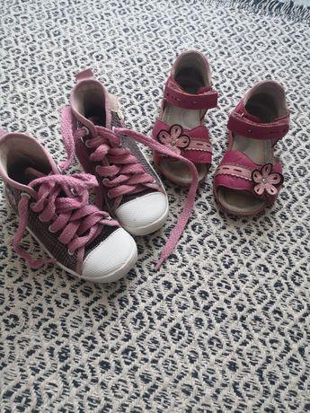 Buciki dla dziewczynki trampki sandaly rozmiar 27
