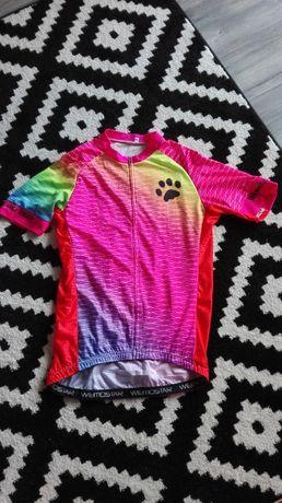 Koszulka L/XL rowerowa kolarska sportowa UNIKAT różowa kolorowa