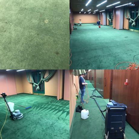 Pranie wykładzin obiektowych przemysłowych tapicerek biurowych pcv