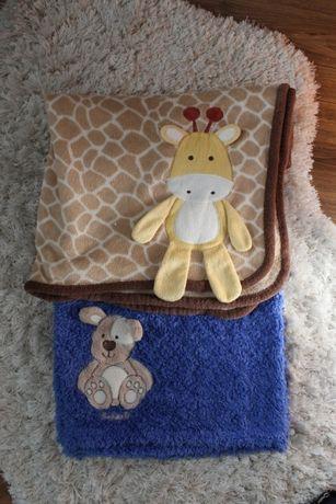 WYPRAWKA dla maluszka 2x kocyk + 2x ręcznik kąpielowy zestaw 2
