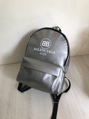 Стильный серебряный рюкзак