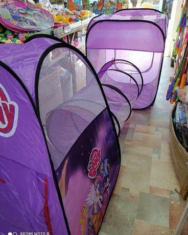 Палатка-домик с тоннелем