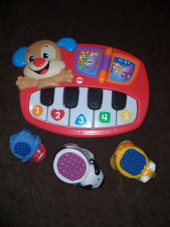 Музыкальное пианино + развивающие  игрушки  Fisher Prise