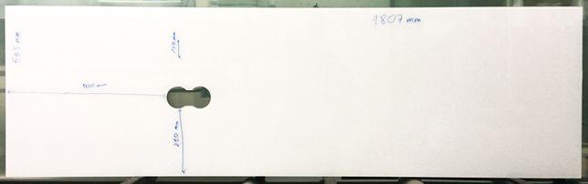 """Szklany panel dekoracyjny """"Biały"""""""