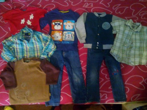 Пакет одежды вещей на мальчика 8 шт. на 4-5 лет