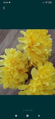 Sztuczne kwiaty łebki chryzantemy 50 sztuk bukiet