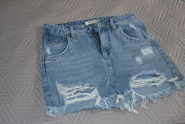 spódniczka mini jeansowa 36/38 jak nowa