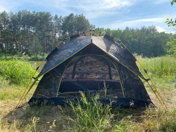 Палатка четырех местная 2х2х1,35м. - Большая двухслойная Автомат Новая