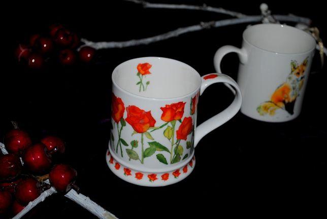 Кружка чашка 400 мл Dunoon Garden Flowers коллекционная костяной фарфо