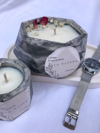 Набір із соєвих свічкок ручної роботи