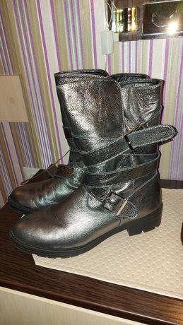 Ботинки чоботи кожа зима