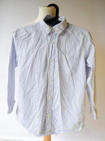 Koszula Biała Paski Gap Kids 10 11 lat 140 146 cm Paseczki Zara H&M