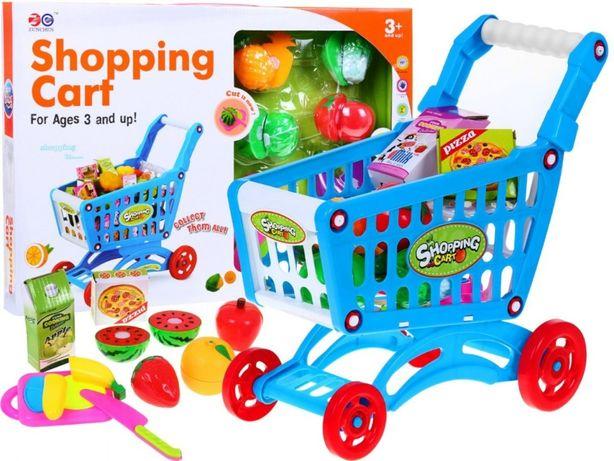 Wózek Koszyk na zakupy+ warzywa do krojenia+ akcesoria