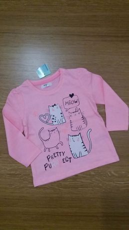 Nowa bluzeczka Pepco. Rozmiar 74. Różowa w kotki.