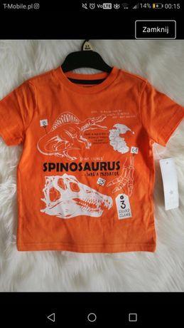 Tshirt 104, bluza 98, spodenki 116