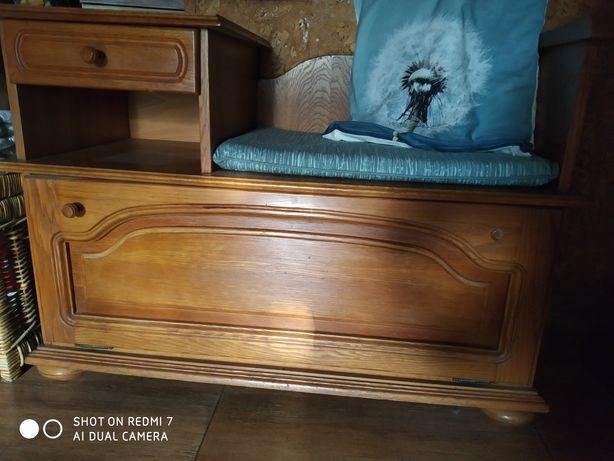 Siedzisko ławka do przedpokoju lite drewno