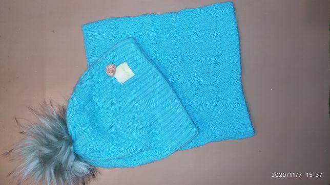 Зимняя шапка + хамут