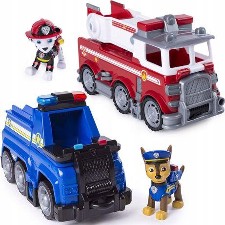 Psi Patrol wóz strażacki i radiowóz, jak Nowe!