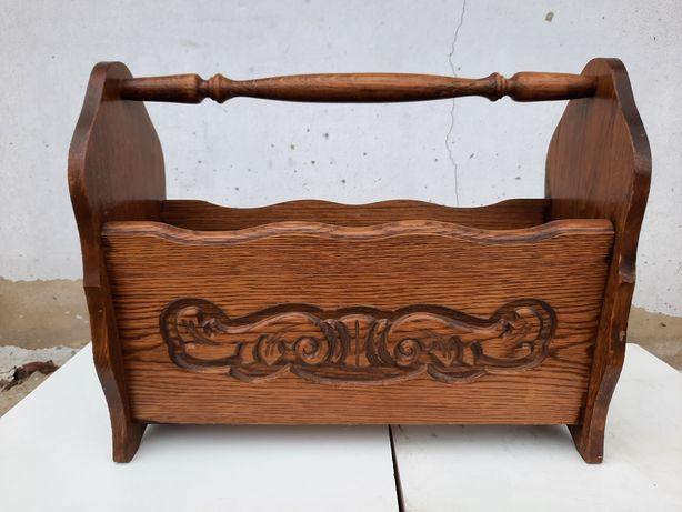 Газетниця дерев'янна вінтажна