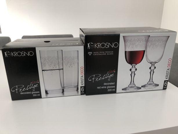 Kieliszki do wina  i szklanki krosno