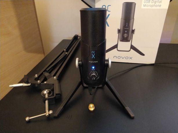 Novox NCX (NC X) + Ramię (świetny mikrofon pojemnościowy na USB)