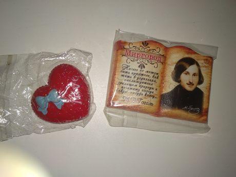 Магнит на холодильник/сувенир (книга/Гоголь, сердце)
